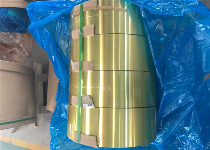 Epoxy Hydrophilic Gold Aluminium Foil H22 For Air Conditioner Radiator